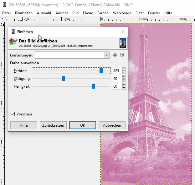 Bilder bearbeiten mit GIMPGIMP