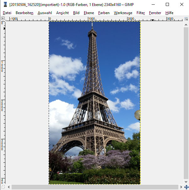 Bilder mit GIMP bearbeiten